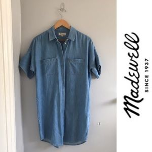 MADEWELL Courier Denim Shirt Dress